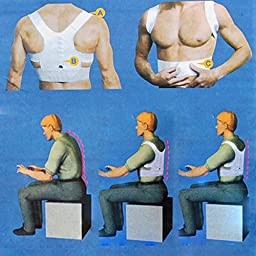 Healtheveryday®Magnetic Therapy Posture Corrector Body Back Pain Belt Brace Shoulder Support (Large)