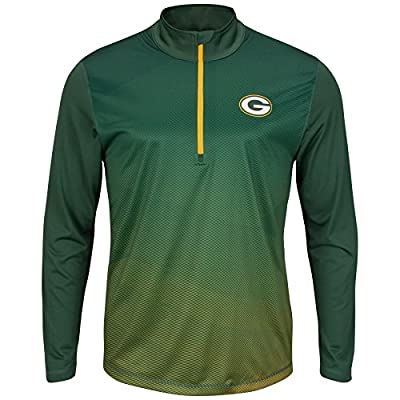 Green Bay Packers Intimidating Half Zip Pullover Synthetic Windshirt