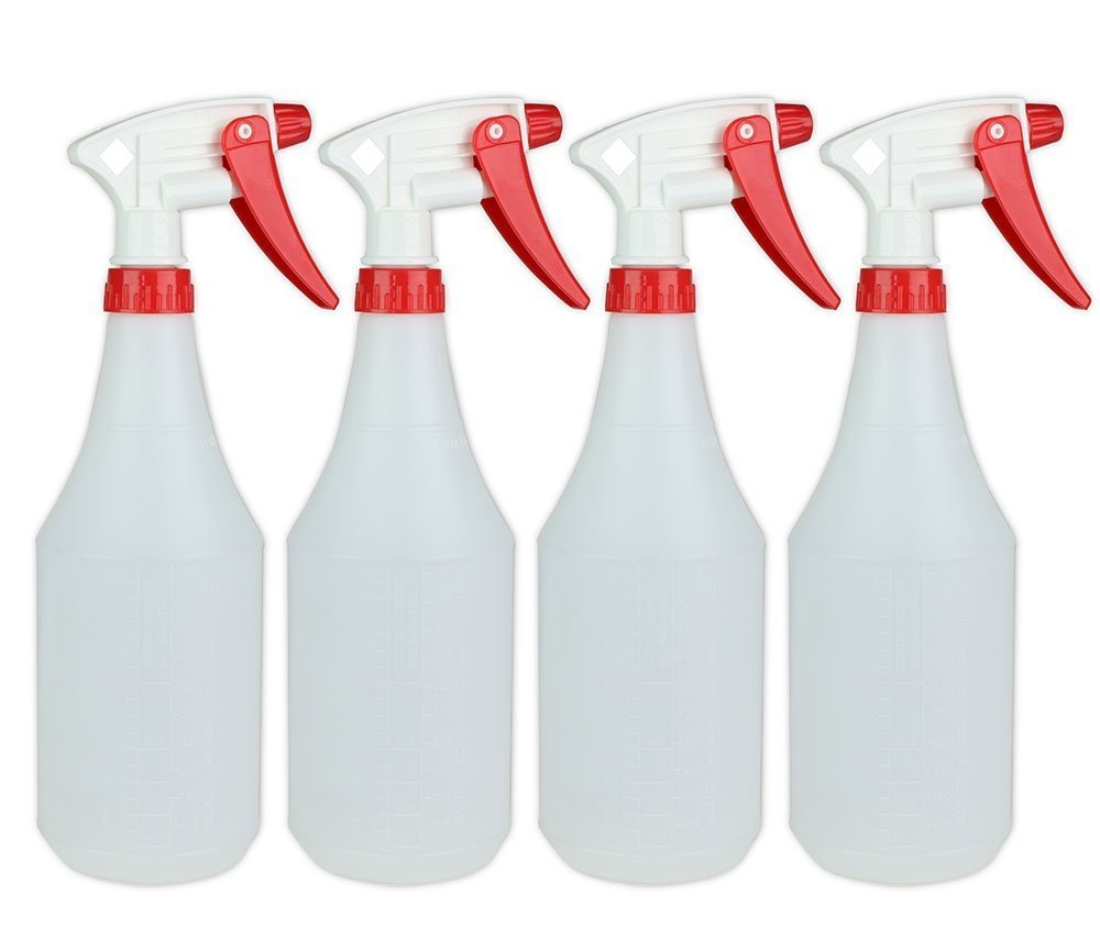 ChefLand 24 Oz Durable Round Empty Spray Bottles (Pack of 8)