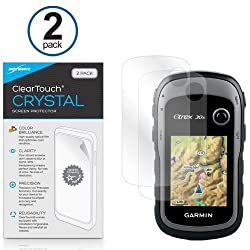 Garmin eTrex 30x Screen Protector, BoxWave [ClearTouch Crystal (2-Pack)] HD Film Skin - Shields From Scratches for Garmin eTrex 30x