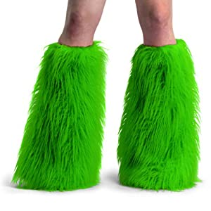 Funky Faux Fur Yeti Adult Boot Sleeves - COLOR Choices from PleaserUSA