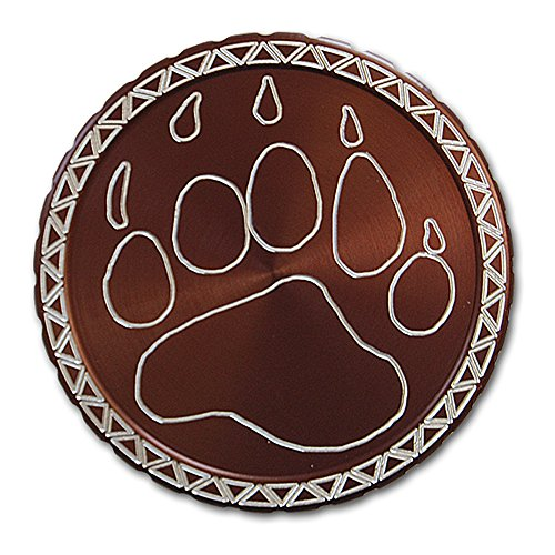 DipLidz Engraved snuff lid Bear Paw (Brown, Copenhagen Fiber Board) (Engraved Snuff Can Lids compare prices)