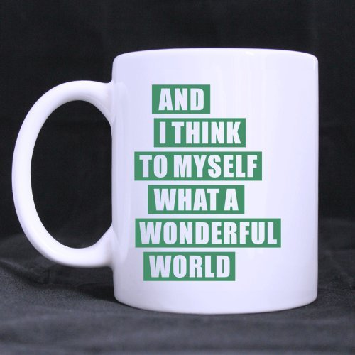 Funny Novetly What A Wonderful World Stainless Steel Travel Tea Mug/Tea Cup - 14 Oz (One Direction Lyric Mug compare prices)