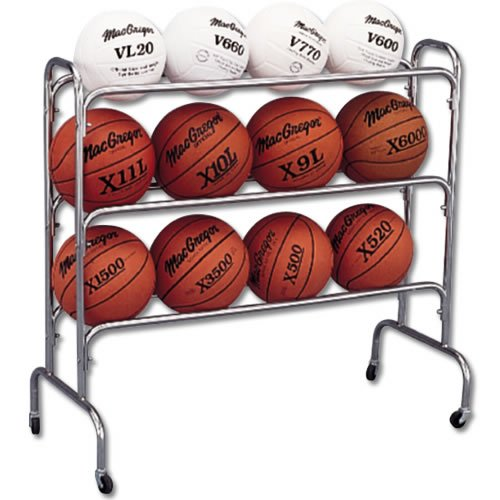 SSG/BSN 12 Ball Wide Body Ball Cart SSG Basketball Storage autotags B000BR3ZU4