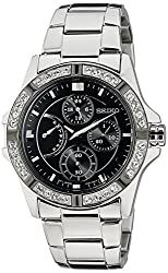 Seiko Lord Chronograph Black Dial Womens Watch - SRLZ93P1