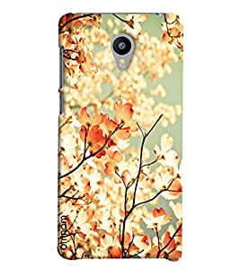 Omnam Tree Leaves With Sun Shadow Effect Printed Designer Back Cover Case For Meizu M2