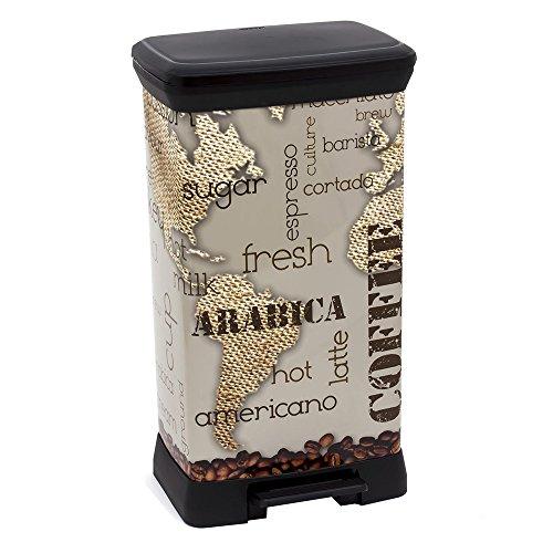 02162-C29-04 Abfalleimer Coffee Deco B Metallics mit Pedal, 50 L
