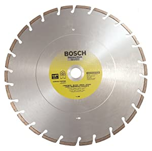 Bosch DB1461 Premium Plus 14-Inch Dry or Wet Cutting Laser Fusion Semented Diamond Saw Blade with 1-Inch Arbor for Reinforced Co at Sears.com