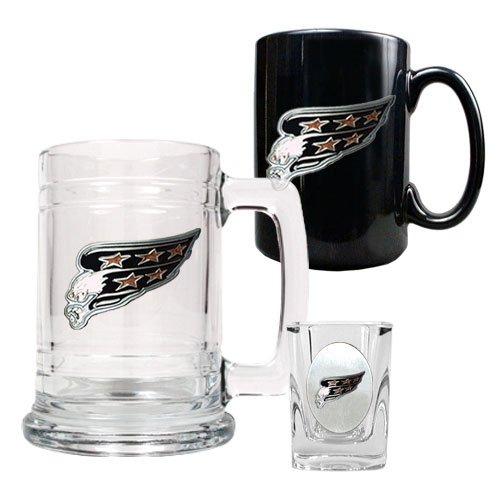 Nhl Washington Capitals 15-Ounce Tankard, 15-Ounce Ceramic Mug & 2-Ounce Shot Glass Set - Primary Logo