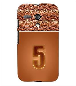 PrintDhaba Numerology Number 5 D-3637 Back Case Cover for MOTOROLA MOTO G (Multi-Coloured)