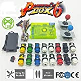 2 Player DIY Arcade Kit Pandora box 6 1300 in 1 game board and 5Pin joystick American HAPP Style Push Button for Arcade Machine