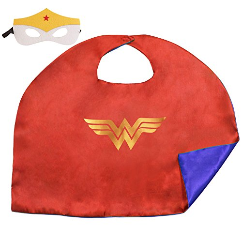 15 Styles 50*70 CM Kids Superhero Capes and Masks For Party Costumes (50*70 CM, Wonderwoman)