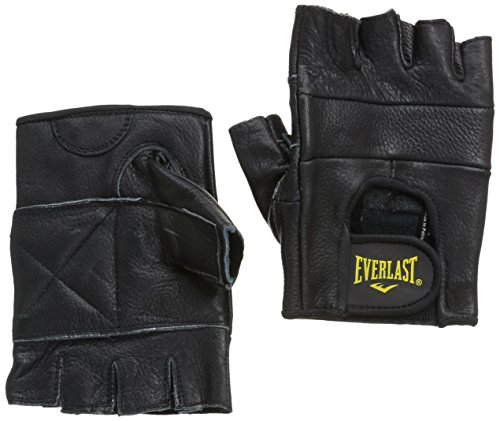 Everlast Leather All Competition Guantino Fitness, Nero, M