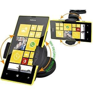 Fm Online 360 Degree Windscreen Car Mount Suction Holder Cradle Dasboard Holder For Nokia Lumia 520