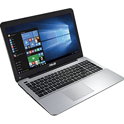 2016 Newest Asus Premium High Performance 15.6-inch HD Laptop (Intel Core i5 processor, 6GB DDR3L, 1TB HDD, DVD RW, Webcam, WiFi, HDMI, Windows 10 ) - Black/Silver
