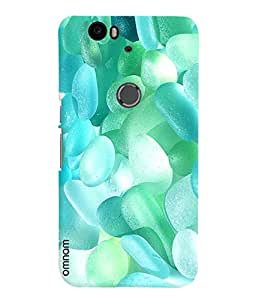 Omnam Jelly Sky Blue Small Printed Designer Back Cover Case For Google Nexus 6P
