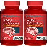 Acetyl L-Carnitine 500 mg & Alpha Lipoic Acid 200 mg 180 Capsules