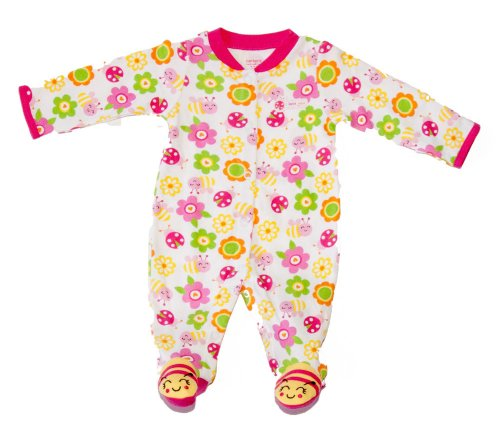 "Carter's Baby Girls' Bumble Bee ""I Love You"" Footed Sleeper Sleep and Play 3 Months"