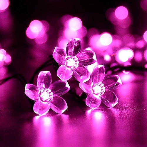 Cherry Blossom Solar String Lights 23ft 50 Led Waterproof