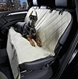 4Knines Dog Seat Cover for Cars with the Best Nonslip Backing, Tan Regular