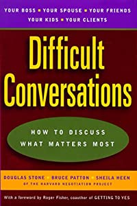 "Cover of ""Difficult Conversations: How to..."