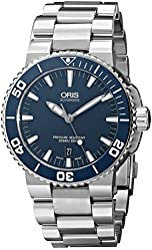 Oris Men's 73376534155MB Divers Stainless Steel Blue Dial Watch