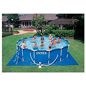 pool intex intex frame pool 457x122 komplett set inkl. Black Bedroom Furniture Sets. Home Design Ideas