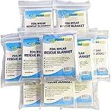 "Primacare HB-10 Emergency Foil Mylar Thermal Blanket, 52"" Length x 84"" Width (Pack of 10)"