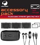 echange, troc Pack Rouge (écouteurs, mini sacoche, câble recharge USB, 3 boîtiers range cartouches, nettoyeur d'écran, 2 films protection