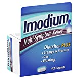 Imodium Antidiarrheal/Anti-Gas, Multi-Symptom Relief, Caplets, 42 caplets
