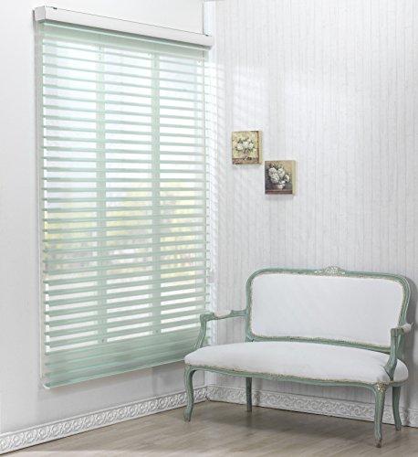サイズ オーダーメイド, 調光ロールアップ スクリーン 窓 プリーツ ブラインド & カーテン 簾 , W 120 x H 90 (CM) , 55pd_Green