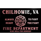 qy68108-r FIRE DEPT CHILHOWIE, VA VIRGINIA Firefighter Neon Sign Barlicht Neonlicht Lichtwerbung