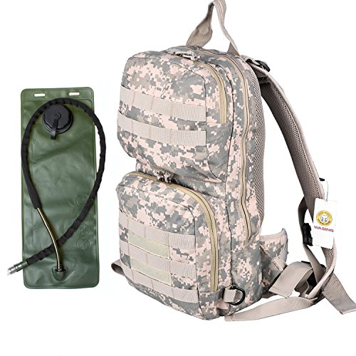 WASING-Hydration-Pack-with-3L-Bladder-and-2-Additional-Pockets-Tough-Military-Style-Backpack-Is-Perfect-for-Hiking-Biking-Running-Walking-and-More