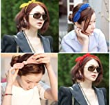 Smile Korean Fashion Brief Candy Color Chiffon Bow Fabric Hair Bands Head Bands Hair Accessories