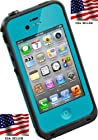 Viior Brand OceanProof Waterproof Protection Case Cover For Apple iPhone 4/4S -sky Blue