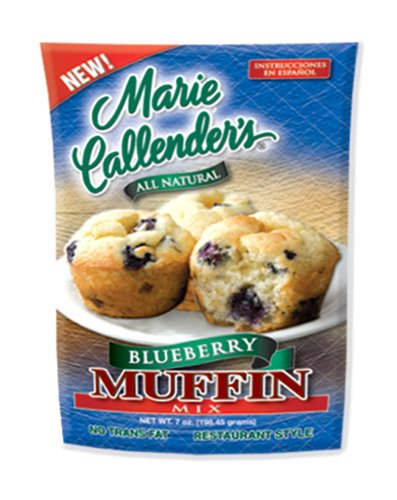 Marie Callender's Blueberry Muffin Mix, 7-Ounce Pouches (Pack of 12)