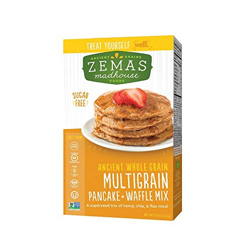 Zemas Madhouse Foods Best Multigrain Pancake and Waffle Mix, Gluten Free, Sugar Free, 9.1 oz. (Best Pancake Recipe compare prices)