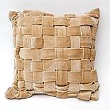 A S Traders Velvet Cushion Cover Cotton (40 Cm X 40 Cm, Beige)