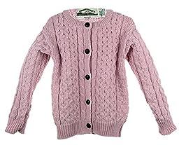 Irish Merino Wool Aran Children\'s Button Sweater