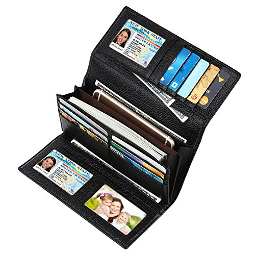 Real Leather RFID Blocking Trifold Wallet