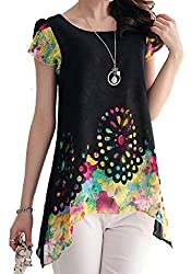 H K Sales Women's Top (102046_Black_Large)