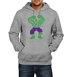 Fanideaz Men's Cotton Angry Hulk Typo Hoodies For Men (Premium Sweatshirt)_Grey Melange_XL