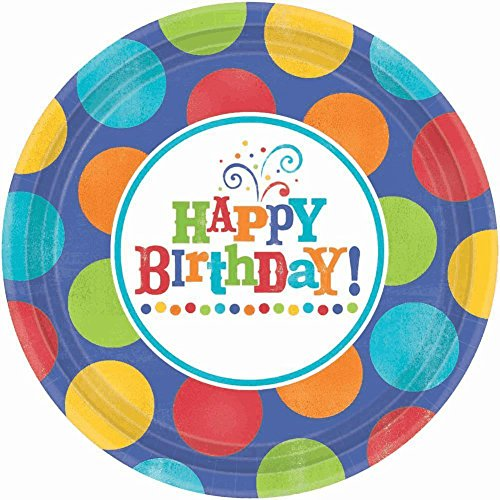 Happy Birthday 'Birthday Fever Fun' Extra Large Paper Plates (8ct) - 1