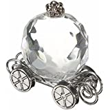 1PC Pumpkin Carriage Baby Shower Christening Supplies Wedding Favor Crystal With Box Collection Decor