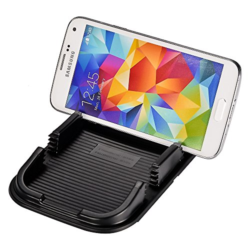 Mudder Anti Slip Sticky Pad Dash Mount with 2 Slots for Smartphones PDAs and GPS