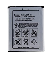 New Standard Battery For Sony Ericsson BST-33 950mAh
