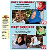 Hoodie Nation KOZY KUSHIONS tm. U Neck Pillow Home or Travel Zip Off Hood Green KOZYGRN