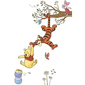 RoomMates RMK2463GM Winnie The Pooh Swinging for Honey Peel and Stick Giant Wall Decals, 1-Pack by RoomMates