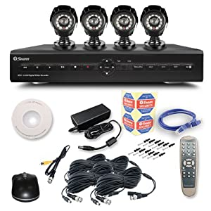 Swann SWDVK-825504 8-Channel Digital Video Recorder with Smartphone Viewing and 4 x PRO-550 Cameras