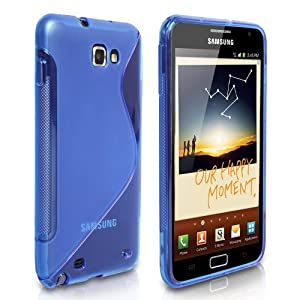 S-Line Silicone Gel Case Cover For Samsung Galaxy Note - Blue